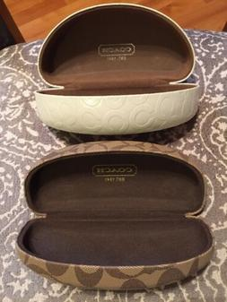 LOT OF 2 COACH HARD SHELL EYEGLASS CASES NEW