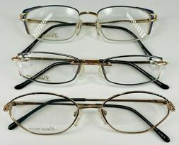 Lot of 3 Diva Petite Women's Metal Eyeglass Frames w/Cases!