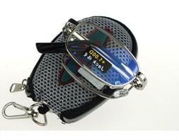 Men Metal Compact Folding Reading Glasses with Zip Case Stre