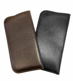 Mens Full Slip Soft Eyeglasses Eyeglass Case Syn.Leather in