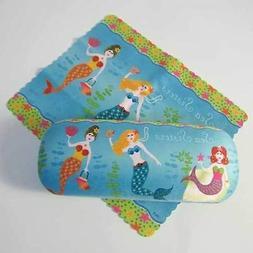 Mermaid Sea Sisters Eyeglass Case with Cleaning Cloth - 804-