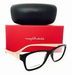 New Authentic Salvatore Ferragamo Eyeglasses 2687 Blk/Burnt