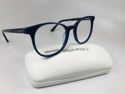 New Calvin Klein CK19521 410 Milky Blue Eyeglasses 52mm with