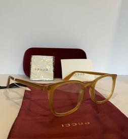 new gg0122o 004 gold square eyeglasses optical