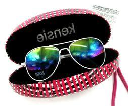 New KENSIE Hard Shell Plaid Eyeglass Case + FREE Iridescent