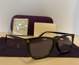 new mens gg0042oa 001 black eyeglasses optical
