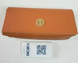 Tory Burch Orange Gold Logo Sunglass Case Only Glasses Eyegl