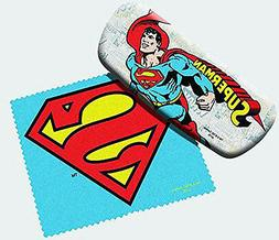Spoontiques Padded Superman Eye Glass Case with Matching Len