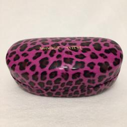 BETSEY JOHNSON 🕶 Pink Leopard SUNGLASSES Hard Shell CASE