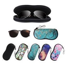 Portable Eyeglasses Case with Carabiner Hook Sunglasses Slee