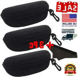 Portable Hard Zipper Glasses Eyeglasses Case Fits For Oakley