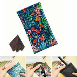 Pouch Bag Leather Soft Cleaning Case Sunglasses Eyeglasses G