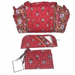 Vera Bradley Provincial Red Shoulder Handbag Eyeglass Case C