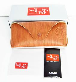 Ray Ban Brown Soft Leather Case Sunglasses Case Snap Travel