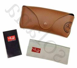 Ray Ban Genuine Brown Sunglasses Eyeglasses Case with Cleani
