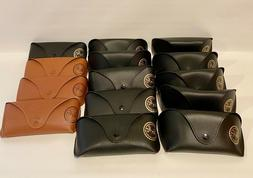 RAY-BAN Sunglass Eyeglass Brown Black Cases & Cleaning Cloth