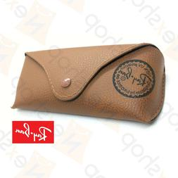 Rayban Sunglasses Eyeglasses Soft Leather Brown Case w/ Clea