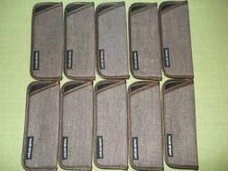 FOSTER GRANT Reading Glass Cases, Sleeves, BROWN, Lot of 10
