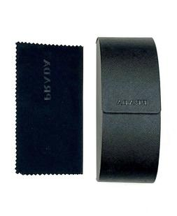 Prada Saffiano Black Sunglasses Hard Case with Cleaning Clot