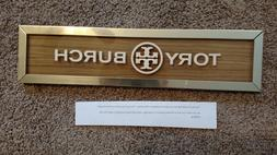 TORY BURCH STORE DISPLAY/ Plaque/ SIGN RARE 14in X 3 1/2in