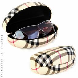 Designer Style Hard Clam Shell Faux Leather Eyeglasses Eyewe