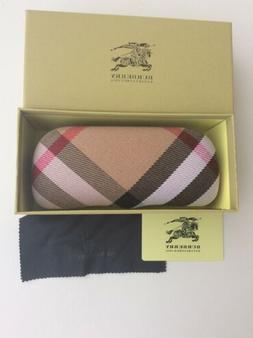Burberry Sunglasses /Eyeglasses Hard Case and Cloth. Comes W