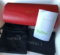 sunglasses hard case box case red leather