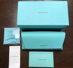Tiffany & Co. Eyeglass & Sunglass Leather Case in Box With C