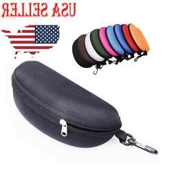 US_  Portable Glasses Eyeglasses Safety Zippered Hard Case C