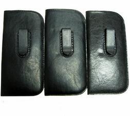Vinyl Eyeglasses Cases with Clip _ Large Size for Men_Black